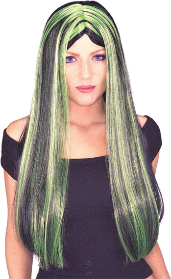 Witch Green Wig 106
