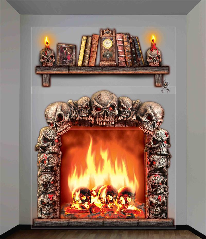 Haunted Fireplace Wall Decor 20 Sq Ft