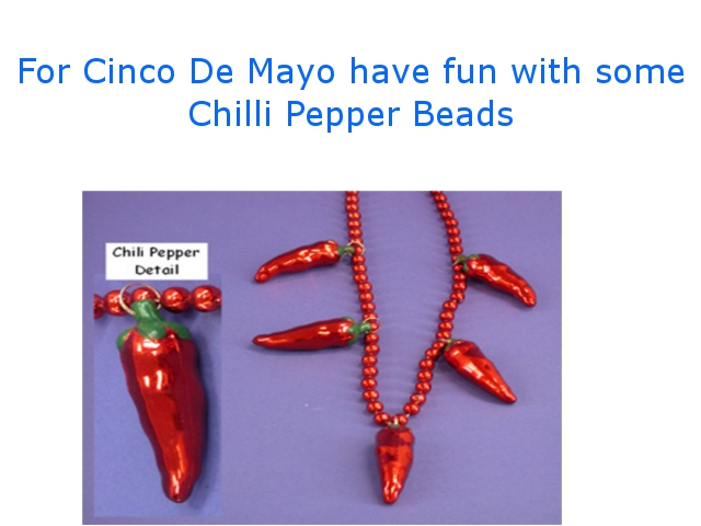 chilli pepper beads/