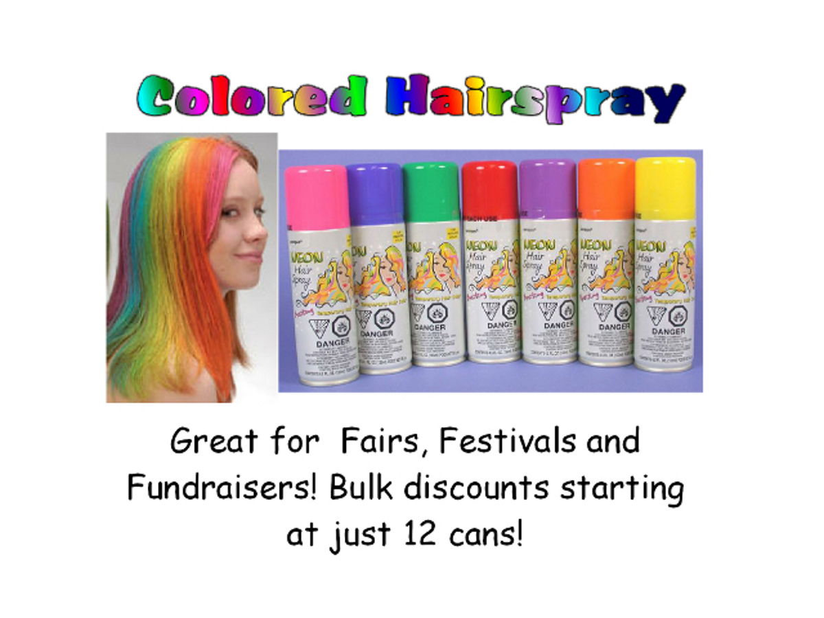 colored hair spray/